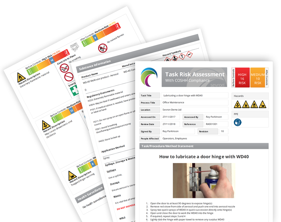 COSHH Risk Assessment Software | Sevron